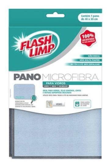 Pano Microfibra Para Vidros Flash Limp Flp6698 Não Risca