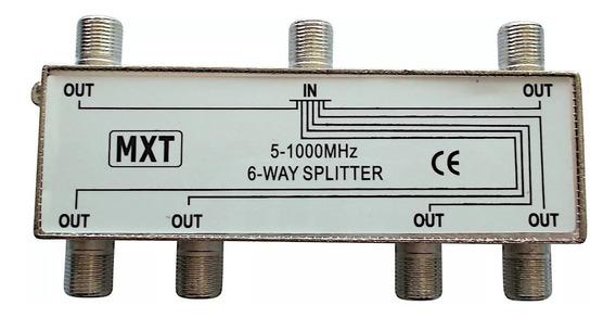 Divisor Coaxial 1 Entrada E 6 Saídas 5-1000 Catv Tv Antena
