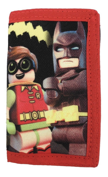 Cartera Para Niño Lego Color Rojo Estampado Batman Y Robin