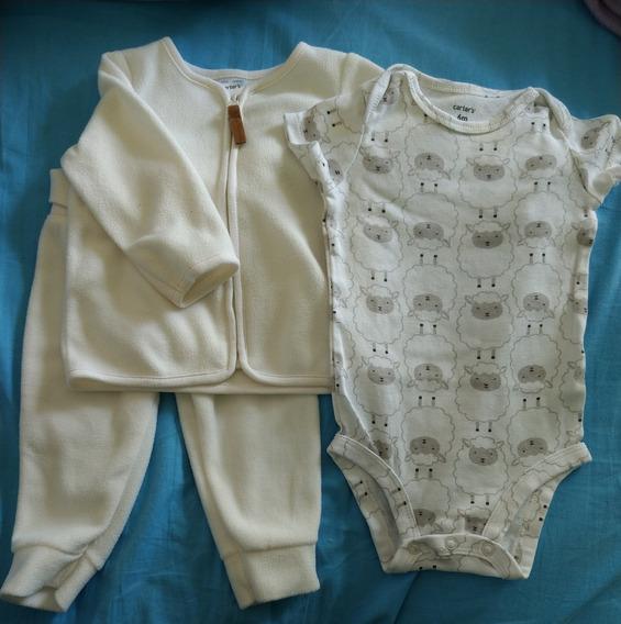 Set 3 Piezas Carters. Body + Campera Y Pantalon Polar