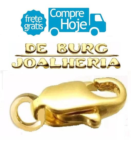 Fecho Mosquetão Ouro 18k 750 / 1,5cm / 1 Grama Preço A Vista
