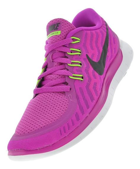 Tênis De Corrida Nike Free 5.0 Lilás Tamanho 34 Original