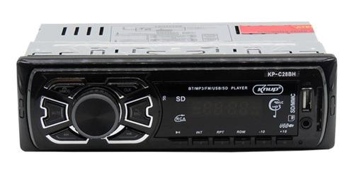 Som automotivo Knup KP-C28BH com USB, bluetooth e leitor de cartão SD