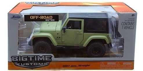 Miniatura Jeep Wrangler 2007 Jada Toys 1:24 Verde