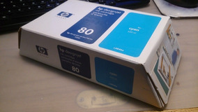 Kit Cabeça De Impressão + Cartucho Hp 80 Cyan (vencido)