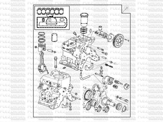 Kit Revisão John Deere 6600 Motor 5.9 6059