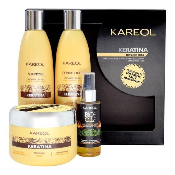 Pack Kareol Keratina Shamp+acond+masc 300 + Bio Oil System