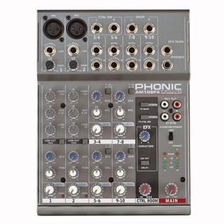 Phonic Am105fx Mixer 2 Entradas Xlr O Linea 4 Stereo Efectos