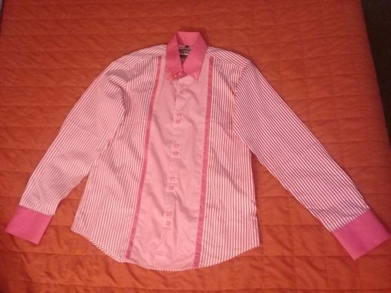 Camisa Casual, Rosa Oscuro