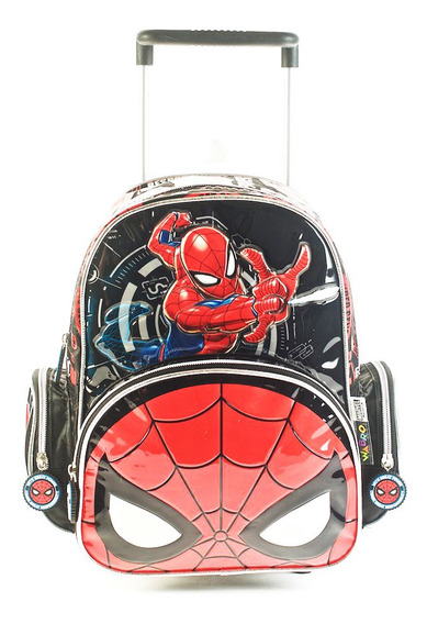 Mochila Spiderman Go Spidey Con Carro 12 Original