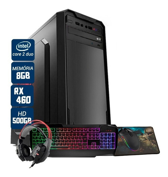 Pc Gamer Aires Intel Pcyes Rx 460 8gb Hd 500gb Wi-fi