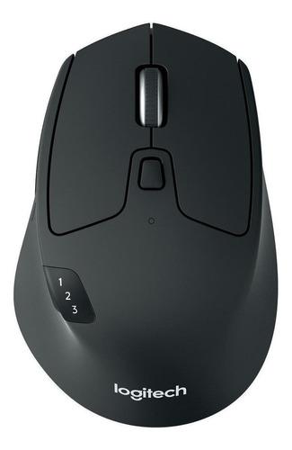 Imagen 1 de 2 de Mouse inalámbrico Logitech  Triathlon M720 negro