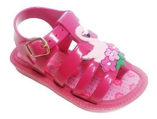 Sandália Infantil Menina Rosa Flamingo