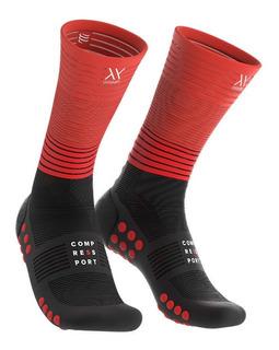 Meia Compressão Corrida Compressport Mid Compression Socks