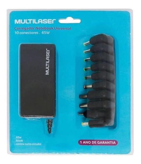 Carregador Fonte Universal Multilaser Para Notebook 65w Cb08
