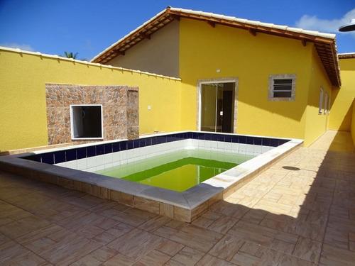 Belíssima Casa Nova Em Itanhaém Conforto Lazer Em Ótimo Bairro Confira - Ca0718