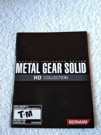 Manual Do Game Metal Gear Solid Hd Collection Ps3 *** Leia