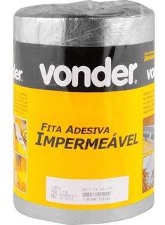 Fita Adesiva Filme Aluminio 20cmx10m Vonder P Telhado Calhas