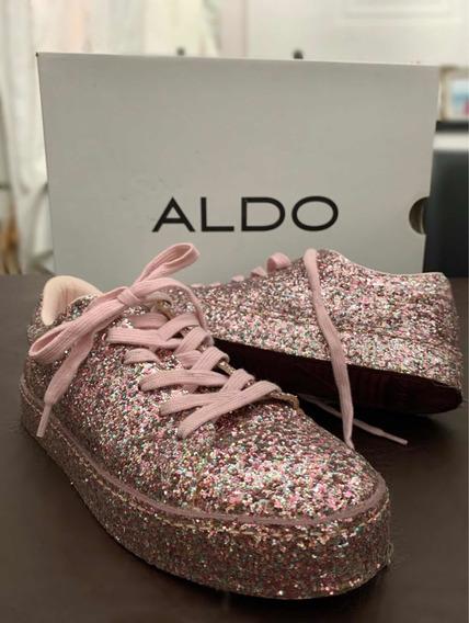 Zapatillas Aldo Glitter Brillosas Mujer Importadas Usa 15 Añ