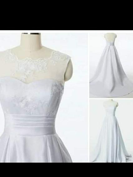 Hermoso Vestido De Novia Talla L Nuevo