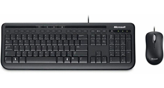 Kit Teclado E Mouse Microsoft C/fio Wired Desktop 600 Usb