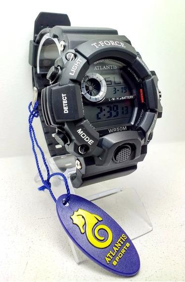 Relógio Masculino Atlantis T-force G5517 Preto Com Branco