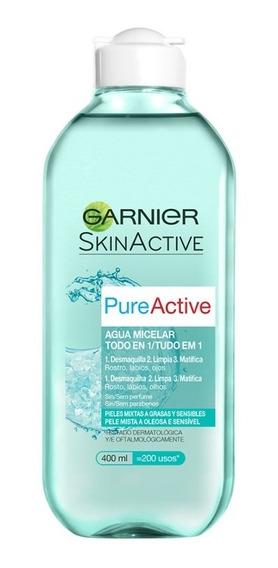 Desmaquillante Agua Micelar 400 Ml Pure Active Garnier