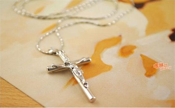 Colar Crucifixo Unissex Bijuteria Promocao Ultimas Unidades