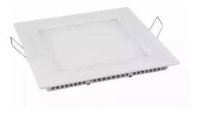 Kit 5 Plafon Painel De Led 18w Embutir Quadrado Branco Frio