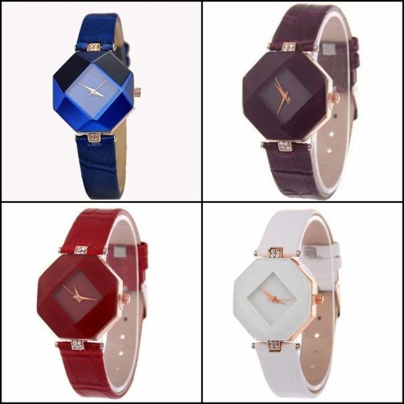Kit 5 Relógios Feminino Quartz Barato E Bonito Geométrico