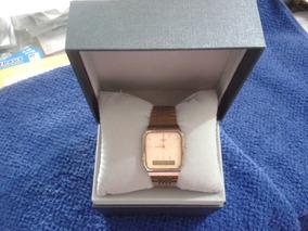 Relógio Social Casio Dourado # Muito Novo # Raridade
