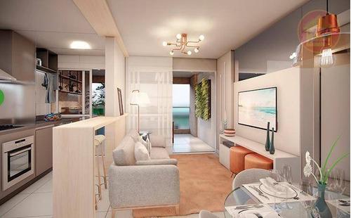 Apartamento À Venda, 105 M² Por R$ 716.140,86 - Vila Alzira - Guarujá/sp - Ap4339
