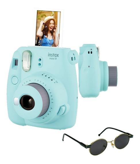 Câmera Instantânea Fujifilm Instax Mini9 Azul Acqua + Óculos