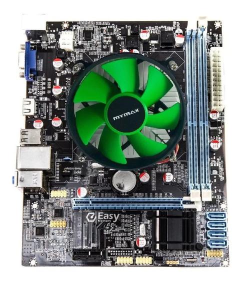 Kit Placa Mae 1155 H61 + Processador I3 2100 3.1 + Cooler