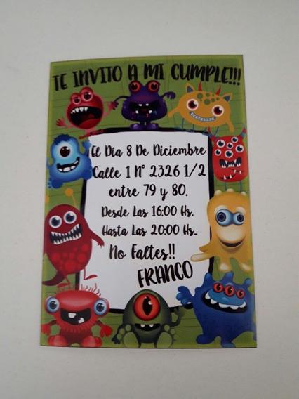 24 Tarjetas Invitacion Cumpleaños 9x13 Rugby Souvenirs