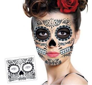 Un Tatuaje Catrina Halloween Hombre Mujer Envio Gratis