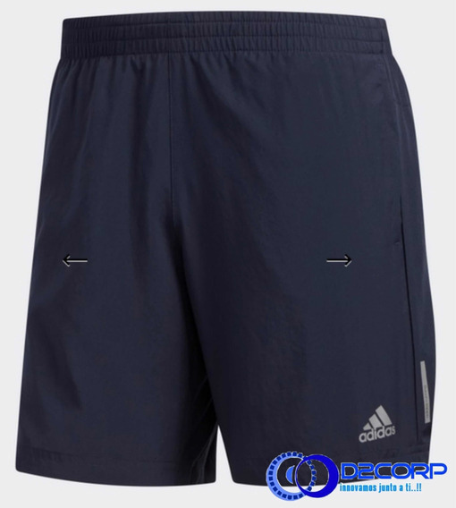 Short adidas Run It Azul Oscuro Talla M