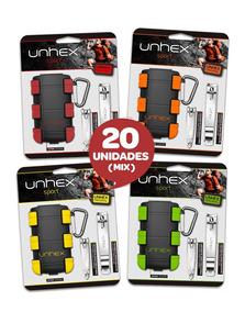 Combo 20 Estojos Unhex - Com Cortador Para Mãos E Pés