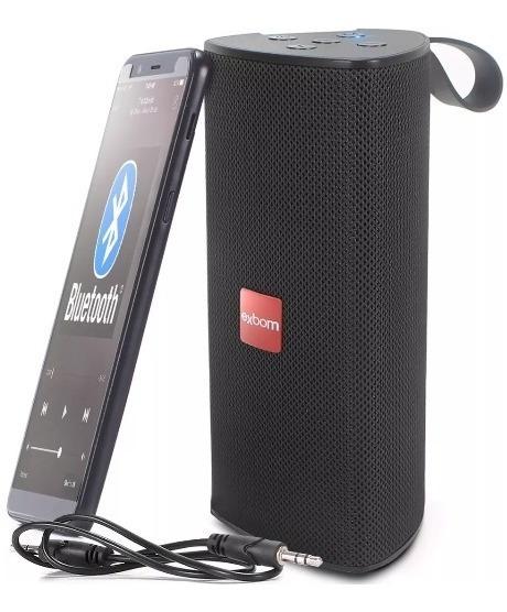 Caixa Bluetooth Exbom + Brinde