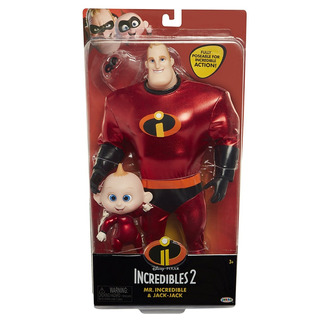The Incredibles 2 Mr.incredible & Jack-jack 28 Cm