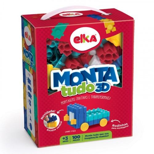 Montatudo 3d - 100 Peças Elka