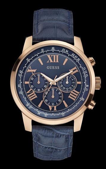 Relógio Guess Masculino Couro Fundo Azul 92526gpgdrc3