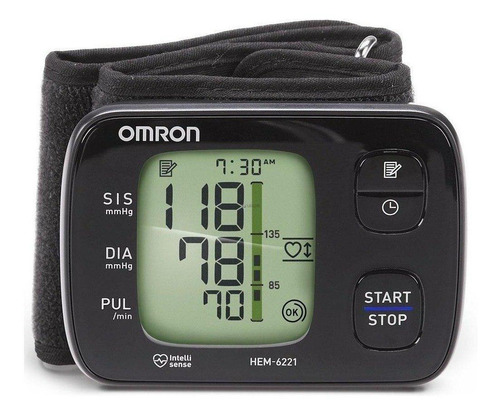 Medidor de pressão arterial digital de pulsoOmron HEM-6221