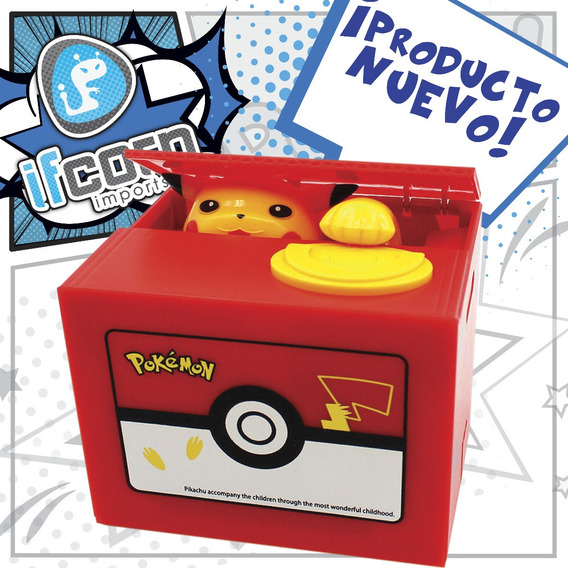 Alcancia Pikachu Pokemon Roba Monedas