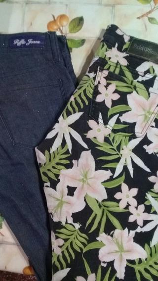 Set 2 Pantalones Jean Y Gabardina Elast (isidro Casanova )