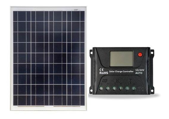 Painel Solar Km 85w + 1 Controlador Hp 10a 12/ 24v