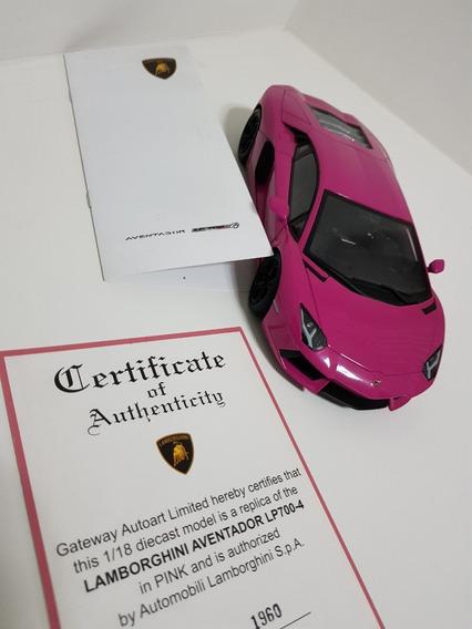 Autoart Lp700-4 Lamborghini Aventador Rosa - Escala 1/18