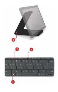 Teclado Microsoft Wedge Bluetooth Con Base Para Tabletas