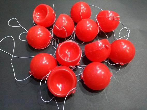 Narices De Payaso Plasticas Con Elástico X 36