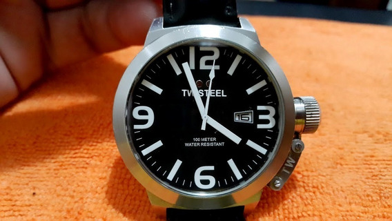 Relógio Tw Steel Preto Quartz Robusto Grande